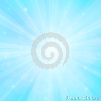 Sunny background with bokeh lights Vector Illustration