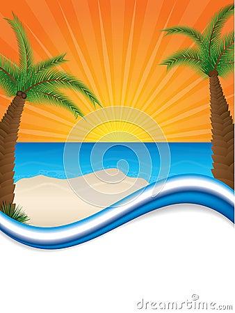 Sunny beach brochure design