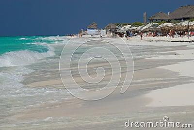 Sunny beach at Caribbean Sea