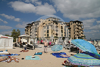 Sunny Beach resort, Bulgaria Editorial Stock Photo