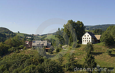 Sunny Black Forest scenery