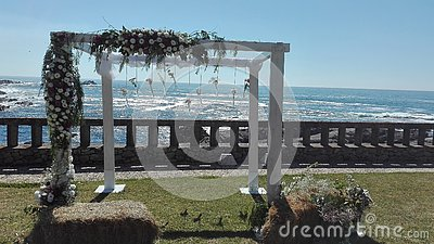 Beautiful view from the altar of a wedding Stock Photo