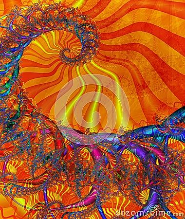 Sunny coloured spiral