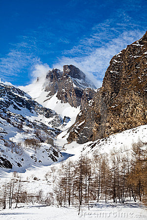 Sunny day on Alps
