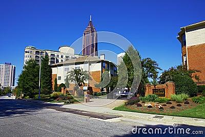 Sunny day in Atlanta, GA.