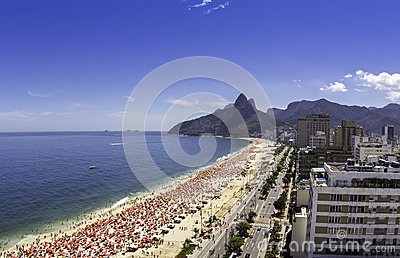 Sunny day on Ipanema Beach