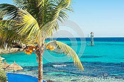 Sunny day on Isla Mujeres, Mexico