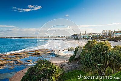 Sunny day at Kings Beach Calundra, Queensland, Australia