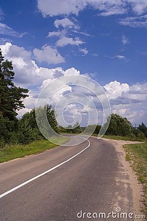 Sunny day road