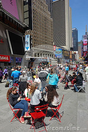 Sunny Day in Times Square