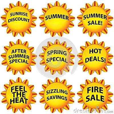 Free Sunny Flower Button Set Stock Photos - 16295913
