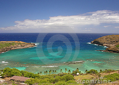 Sunny Hanauma Bay in Hawaii