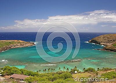 Sunny Hanauma Bay in Hawaii