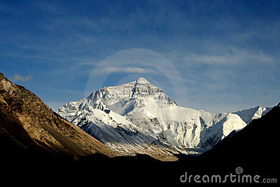 Sunny Himalayas Everest moutain