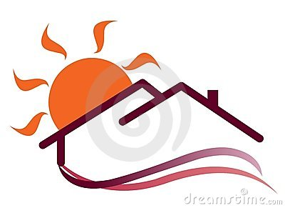 Sunny house logo