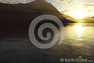 Sunny lake