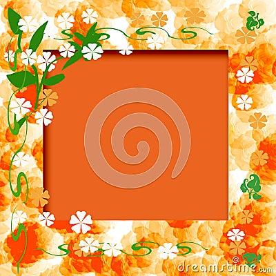 Sunny orange frame