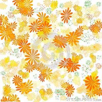 Sunny orange garden