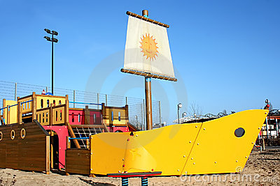 Sunny playground.