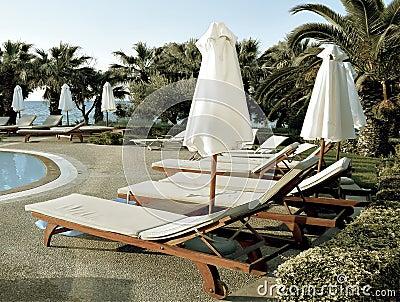 Sunny pool in Greece