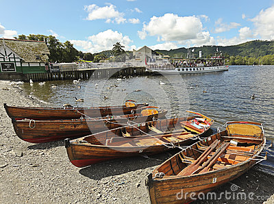 A Sunny Scene in Bowness-on-Windermere Editorial Stock Image
