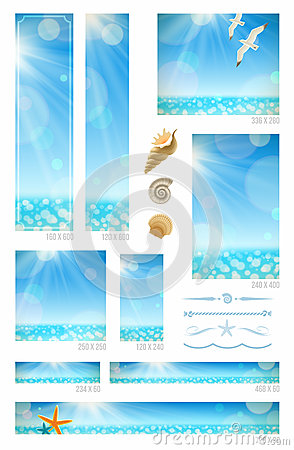 Sunny seascape backgrounds