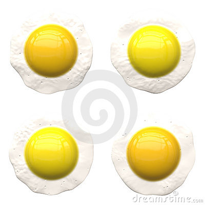 Sunny side up eggs.