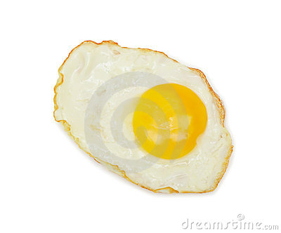 Sunny side up, isolated