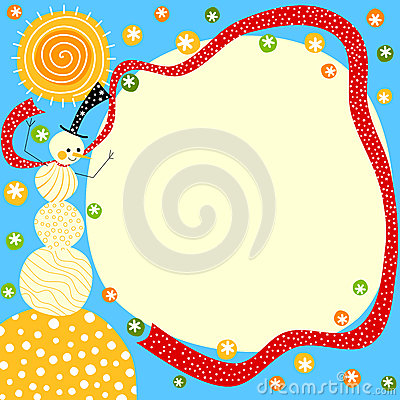 Free Sunny Snowman Christmas Card Stock Images - 47205124