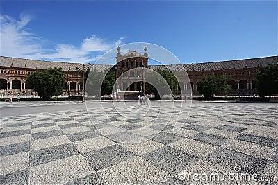 Sunny Spanish Plaza