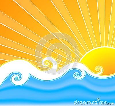 Free Sunny Summer Swirls Stock Photo - 7506600