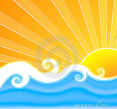 Sunny summer swirls