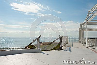 Sunny summer terrace