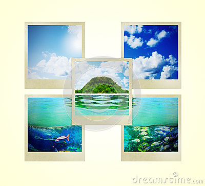 Sunny Tropical Beach On The Island Stock Images - Image: 29039294