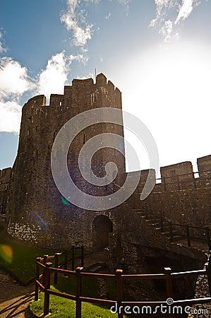 Sunny Welsh castle