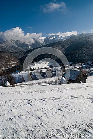 Sunny winter valley