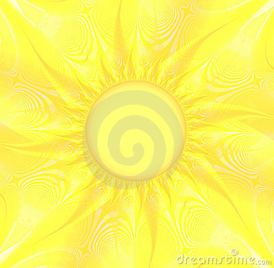 Sunny Yellow Background Royalty Free Stock Image Image