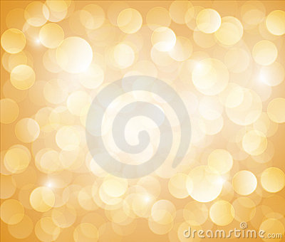 Sunny Yellow Vector bokeh background