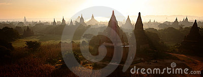Sunray Over Bagan Temples