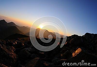 Sunrice in mountain