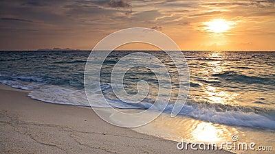 Sunrise above Andaman sea with beautiful beach