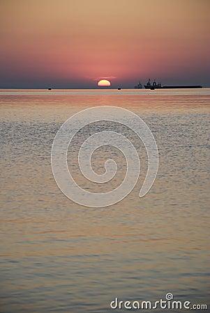 Sunrise above ocean