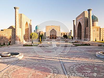 Sunrise above Registan