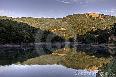 Sunrise on Almaden Reservoir