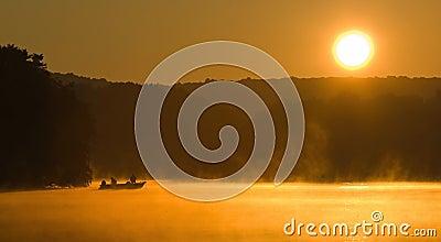 Sunrise Angling on A Lake