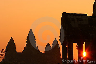 Sunrise at Ankor Wat
