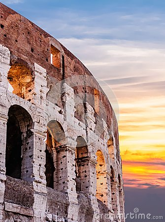 Free Sunrise At Colloseum Royalty Free Stock Photos - 106770618