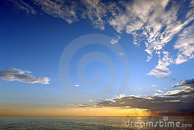 Sunrise, Atlantic ocean coast