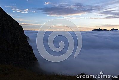 Sunrise in the Austrian Alps, Europe
