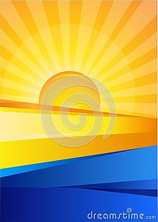 Sunrise and Blue Sea Design